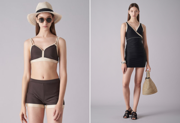 Left: LEBEIGE 19SS Bikini; Right: LEBEIGE 19SS Warap One-piece Swimwear.