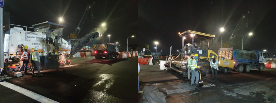 The Samsung C&T team worked day and night to build a traffic diversion over a single weekend.