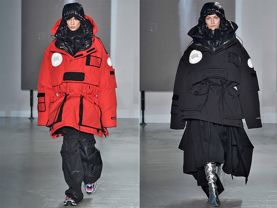 Juun.J's collaboration with Canada Goose was first exhibited on the runway in Paris last January.